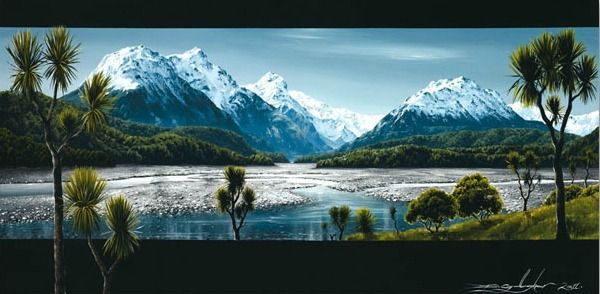 Dart River Glenorchy Canvas Print By Dale Gallagher For