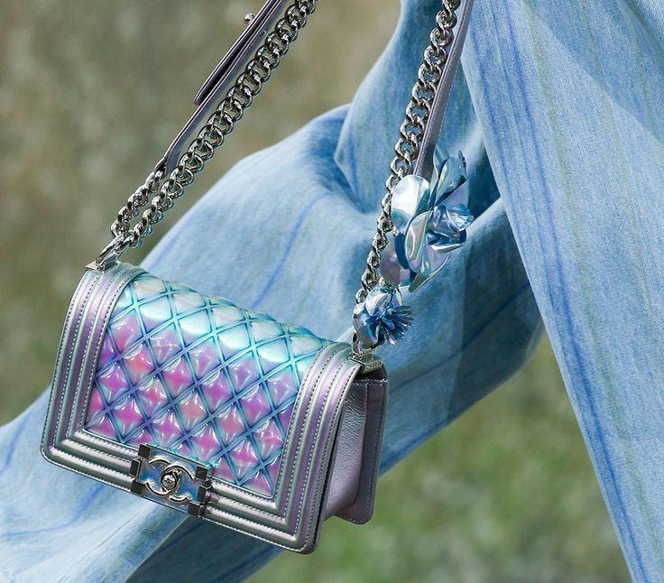 59 Brand New Chanel Bags, Straight From the Brand's Mermaid Blue Spring 2018 Runway in Paris