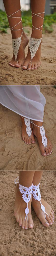 Территория БОХО:вязаные украшения для ног латвийской мастерицы Barmine (Olga Barmine)