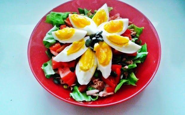 zdrowokolorowolifestylowo: Dietetyczna sałatka z tuńczykiem