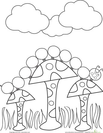 Worksheets: Caterpillar Coloring Page