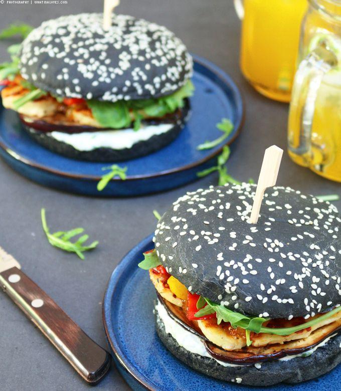 Grilled Halloumi Burger    whatinaloves.com