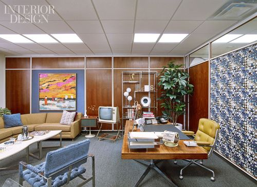 mad men office furniture. tour mad menu0027s sterling cooper draper price manhattan hq complete with wood paneled walls mod furniture ceiling tiles and patterned wall covering men office