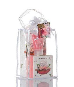 Bubalina WP06L Wild Pomegranate Large Gift Set, Wild Pomegrante -8oz Lotion, 8oz Bath and Shower Gel, 6oz Butter, 2.5oz Scrub by Bubalina. $60.00. Innovative - will enhance your well being.. Dimensions: 6 X 6 X 11. Scent: Wild Pomegranate. Set Contains:                Wild Pomegranate Body Butter, 6 oz.; Wild Pomegranate Bath & Shower Gel, 8 oz.; Wild Pomegranate Hand & Body Lotion, 8 oz.; Wild Pomegranate Body Sugar Scrub, 2.5 oz.                              ...