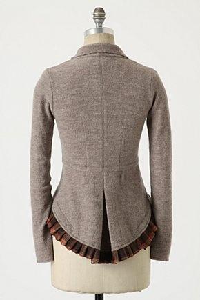 Anthropologie Rosie Neira Ruffle Winding Willow Cardigan Sweater Coat