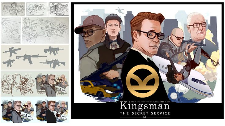 Kingsman Movie Poster by taho on DeviantArt
