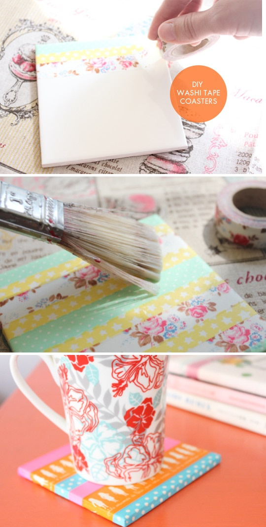 Washi Tape Coasters DIY. Full Tutorial.
