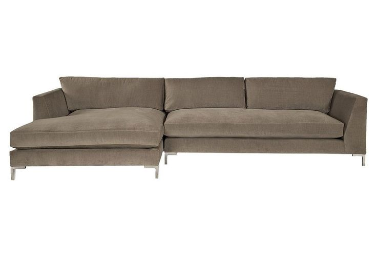 Walden sectional gray stylish upholstery one kings for One kings lane outdoor furniture