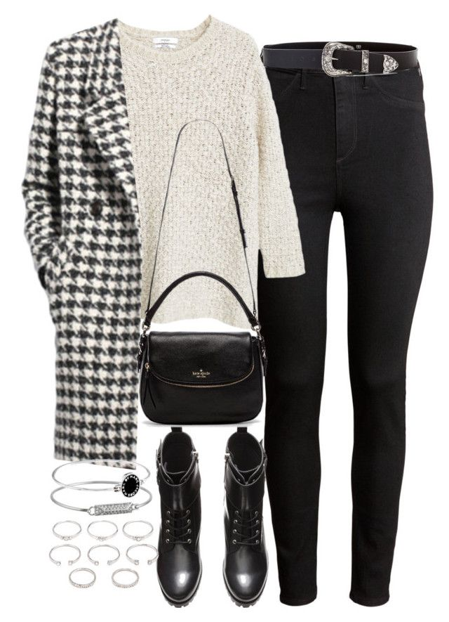 """""""Untitled #807"""" by megan-trinite ❤ liked on Polyvore featuring H&M, MANGO, Kate Spade, Rebecca Minkoff, Marc by Marc Jacobs, Forever 21 and B-Low the Belt"""