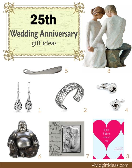 25th wedding anniversary gift ideas 25th anniversary