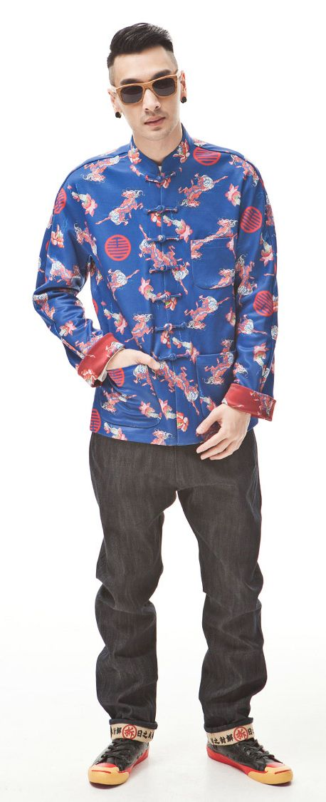 Men Original Traditional Chinese Fashion Tang Suit Style Jacket Top National Trend Blouse