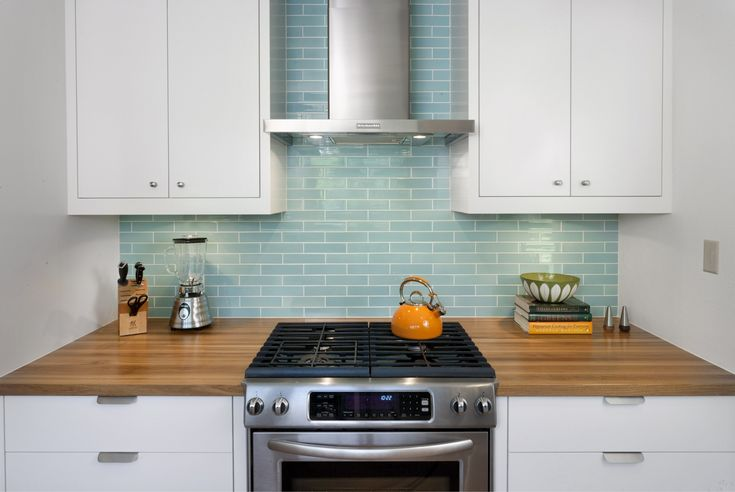 Beautiful Blue Tile | Cultivate.com #kitchen #backsplash