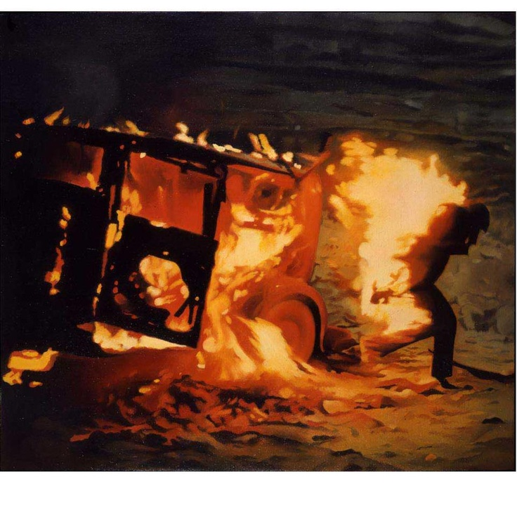 Vija Celmins- Burning Man 1966