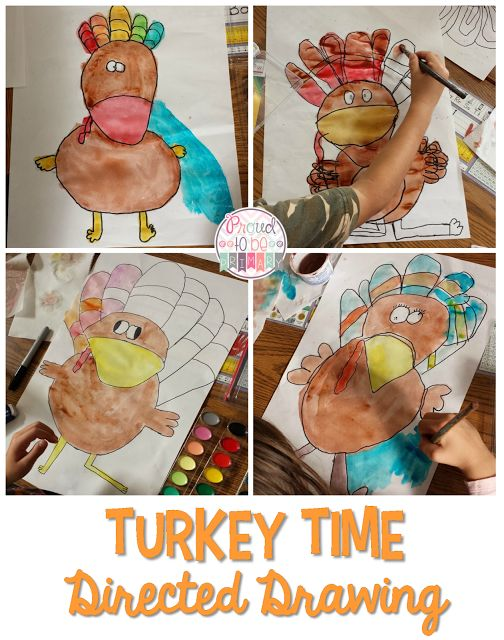 Proud to be Primary's Turkey Time Directed Drawing