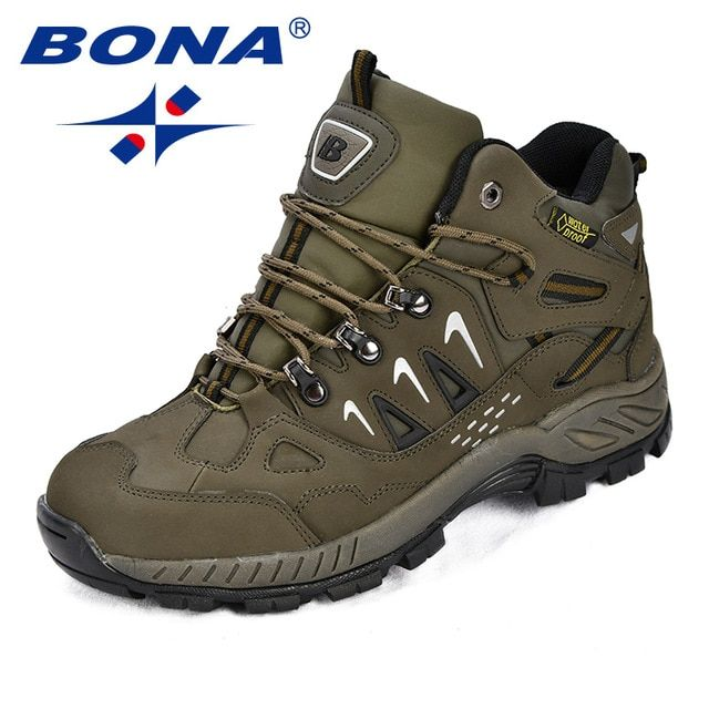 b8e60b95ef98a BONA New Classics Style Men Hiking Shoes Action Leather Men Athletic Shoes  Lace Up Outdoor Men Jogging Sneakers Free Shipping Review
