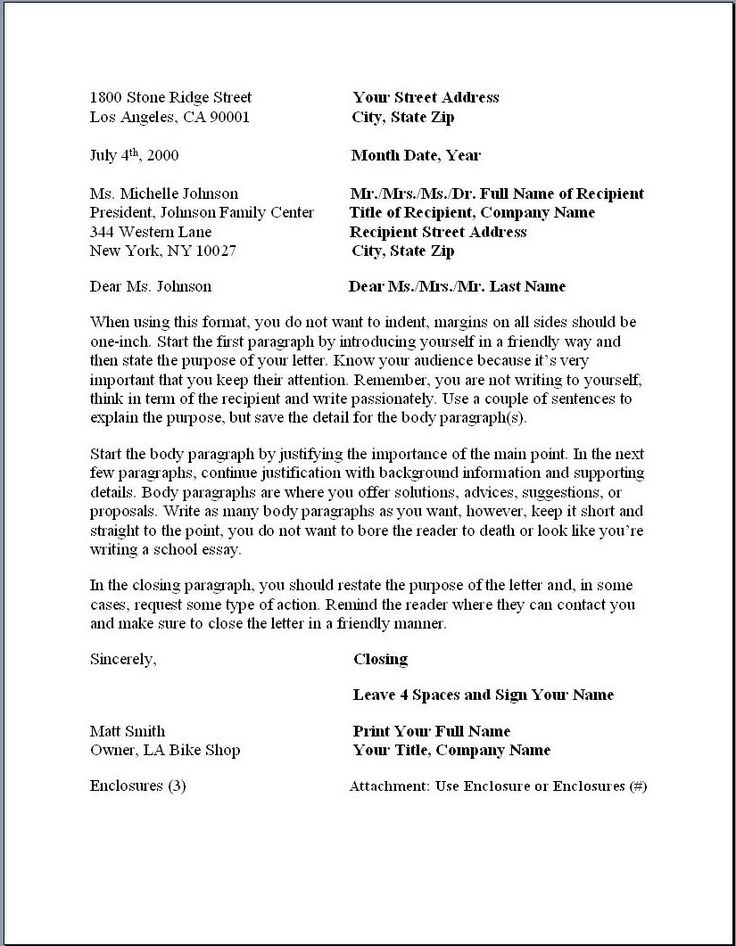 Business Letter Sample Format - Gse.Bookbinder.Co