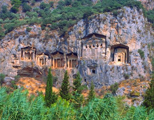 Kaunos Rock Tombs. Dalyan Turkey.