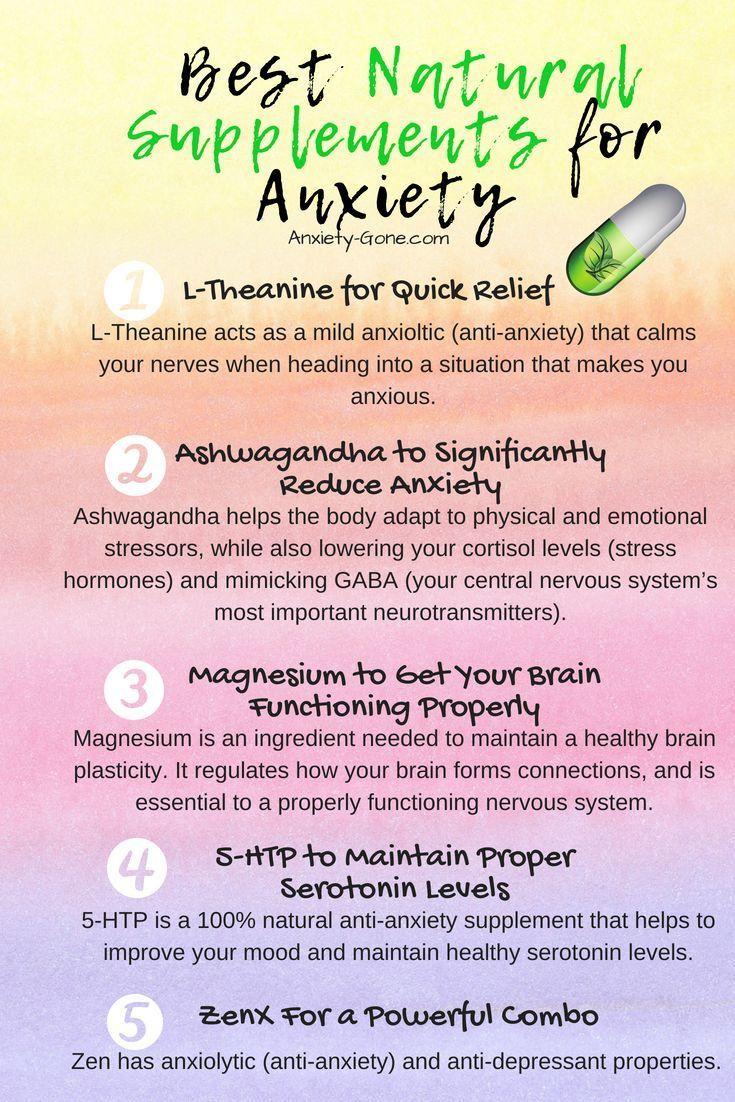 Die Top 5-Nahrungsergänzungsmittel gegen Angstzustände und was Sie erwartet