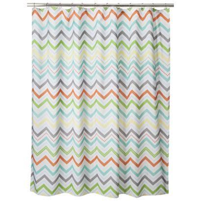 orange and teal shower curtain. Circo  Chevron Shower Curtain Orange 35 best shower curtains images on Pinterest Bathroom ideas