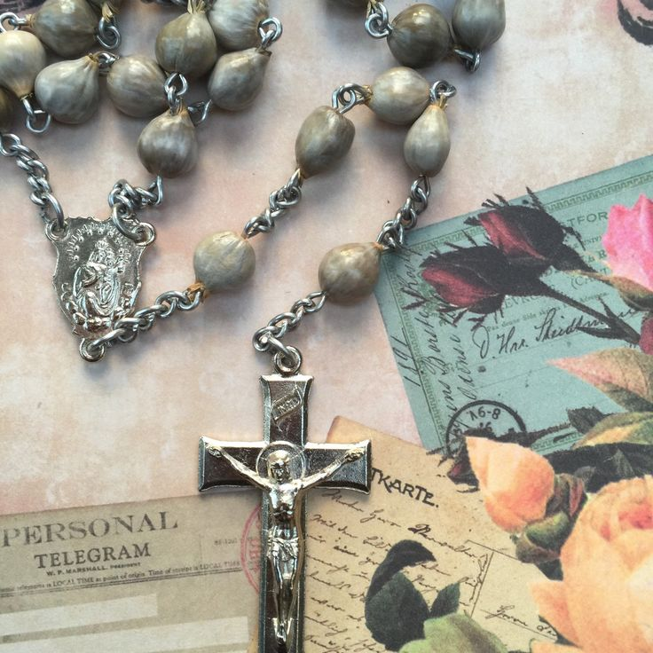Enjoy this beautiful rosary it is a vintage item and truly unique . Exploit your faith and get caught wearing this beautiful rosary beaded treasure . After all you are worth it .
