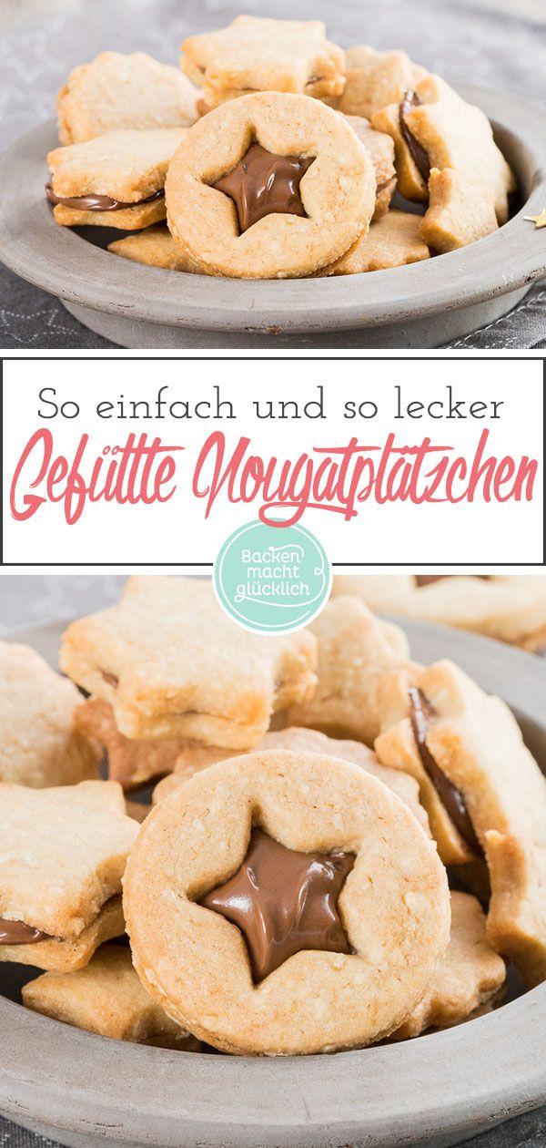 Nuss-Nougat-Kekse – knusprige und knusprige Kekse, serviert mit feinem Nougat, …   – Weihnachten Backrezepte