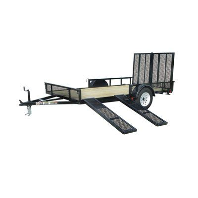 Carry-On Trailer 2,990-lb GVWR 7-ft x 12-ft ATV/Utility Trailer w/ Removable Ramps