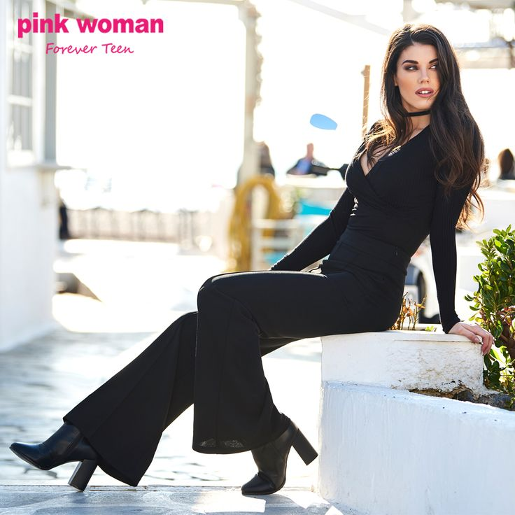 The total black look we love! Shop online at https://www.pinkwoman-fashion.com/