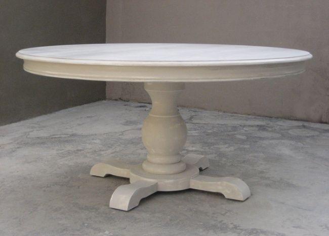 tavolo allungabile rotondo in stile luis gueridon