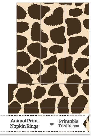 Giraffe Print Napkin Rings from PrintableTreats.com