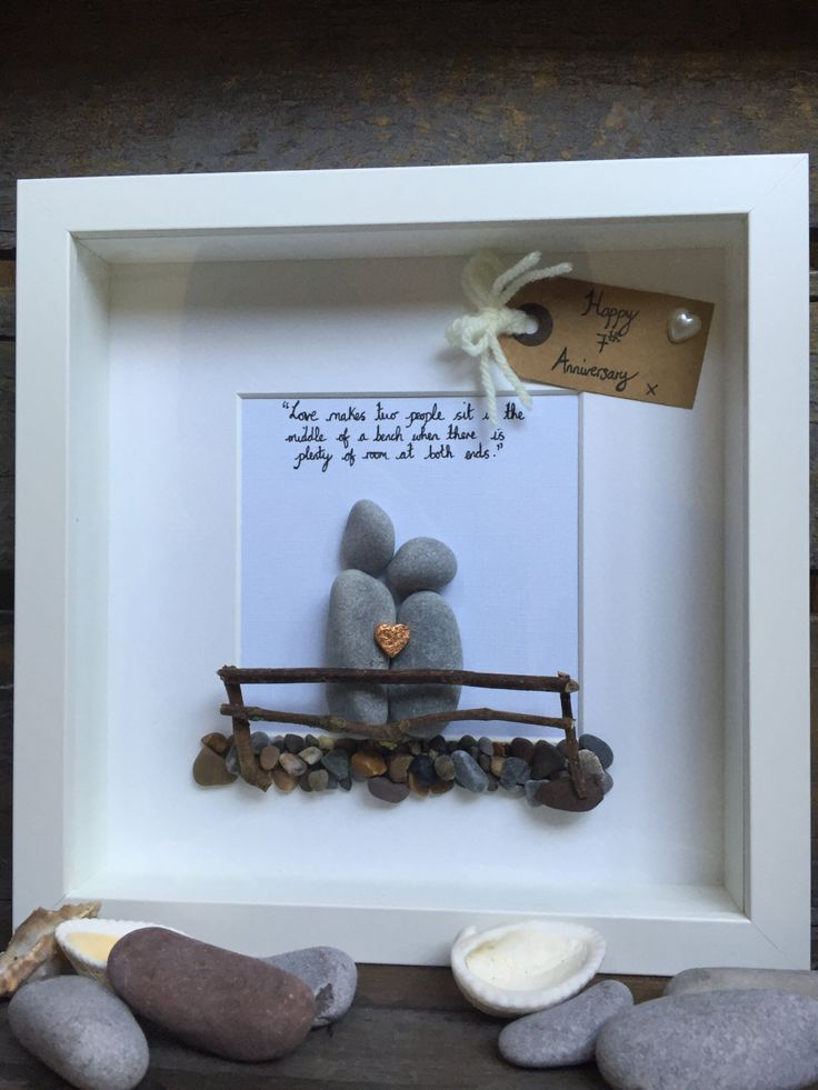 Traditional themed 7th wedding anniversary by MoonlightgiftsShop