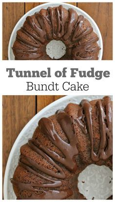 Tunnel of Fudge Bundt Cake recipe : if you love chocolate cake, this cake recipe is for you!