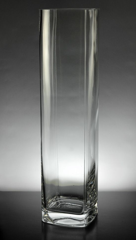 Clear glass vases square quot tall each for