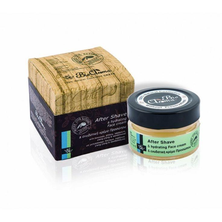 Προτείνουμε τη φυτική κρέμα προσώπου για μετά το ξύρισμα (after shave) της BioAroma. Η κρέμα βοηθά ιδιαίτερα στην ενυδάτωση και επούλωση του προσώπου.