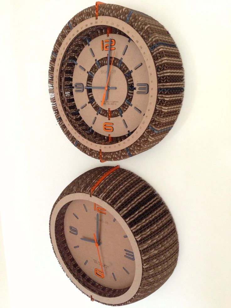Carboard Clocks by Studio-38