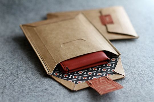 how to make origami packaging with brown paper
