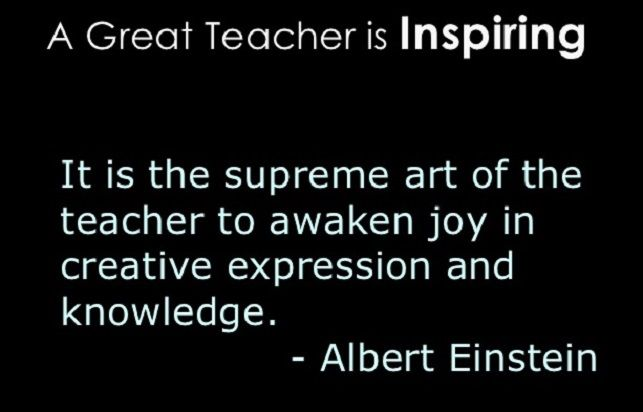 A Great Teacher is Inspiring - Art and Expression