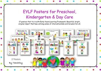 Early Years Learning Framework Posters A3 size