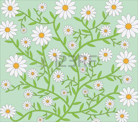 Daisies vector patroon Stockfoto