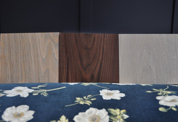 Wood flooring goes brilliantly with floral patterns. Here we have Silk Grey, Walnut and Silver White.  Which one is your favourtie?
