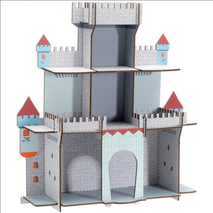#Castle by #Djeco from www.kidsdinge.com https://www.facebook.com/pages/kidsdingecom-Origineel-speelgoed-hebbedingen-voor-hippe-kids/160122710686387?sk=wall #kidsdinge #toys #speelgoed #sint #kerstmis