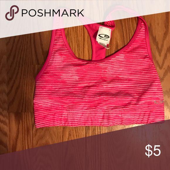 Pink stripe sport bra Pink stripe sport bra Champion Intimates & Sleepwear Bras