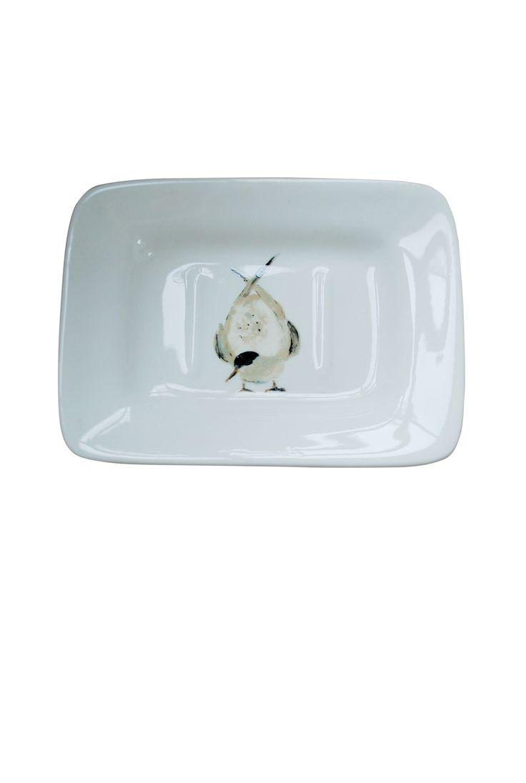 Porte savon céramique oiseau sterne. 16 x11 cm 22$  Contractez-nous  581-996-9001