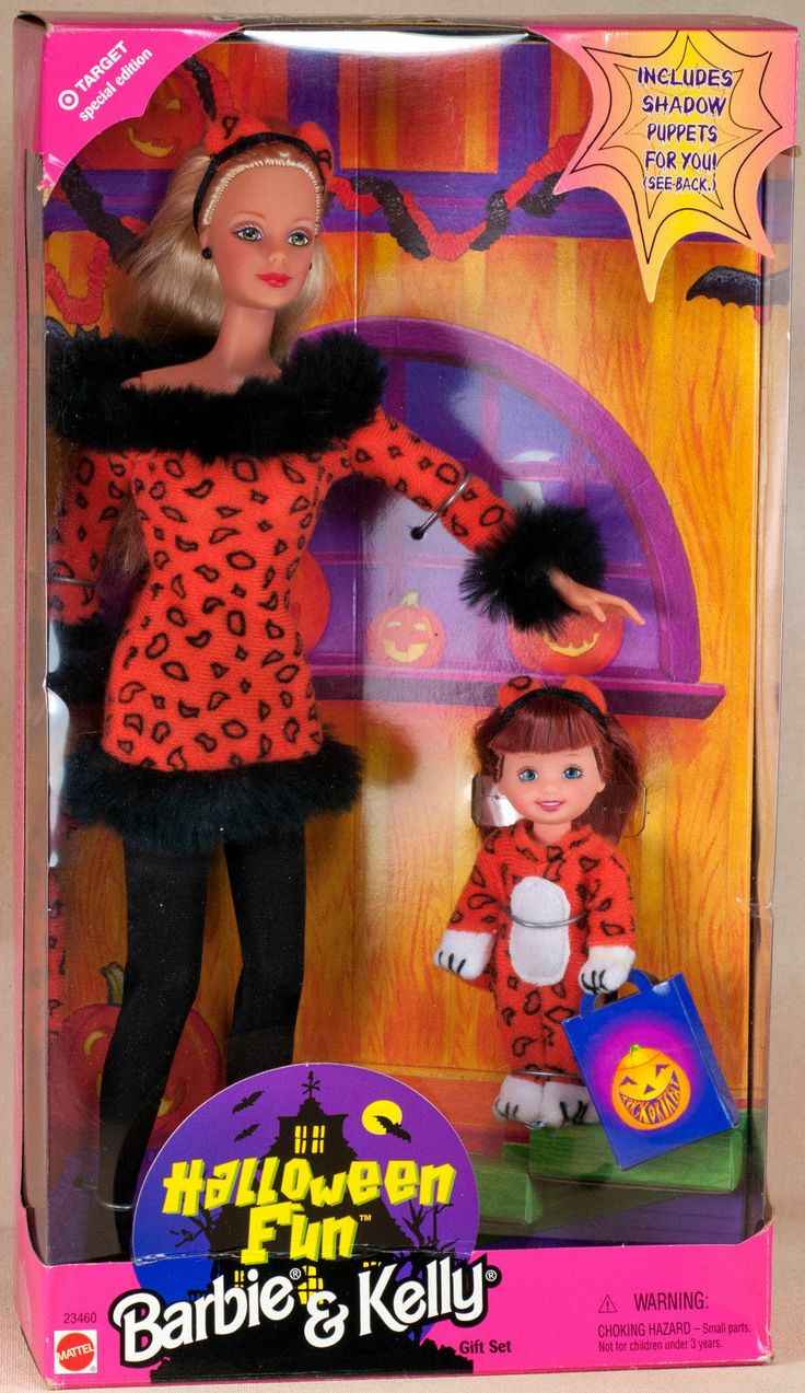 Image result for 1999 Target Halloween Fun Barbie & Kelly Set