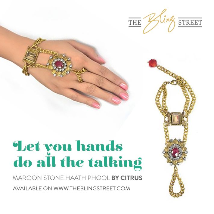 Let your hands do all the talking. Haath  http://www.theblingstreet.com/designers/citrus