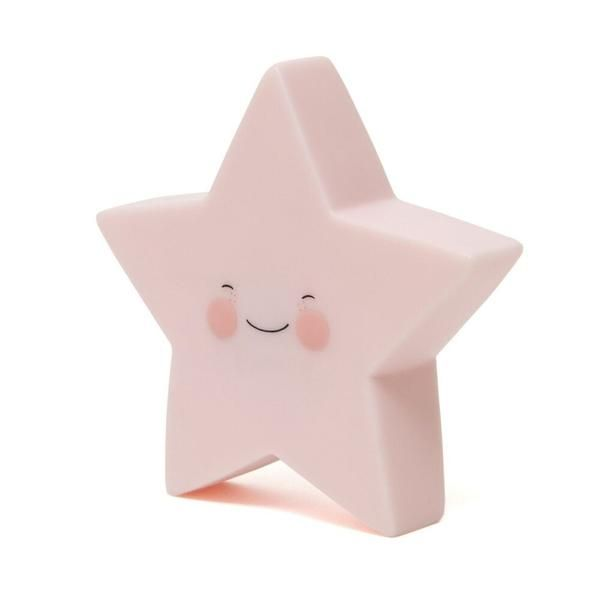 Noční LED lampička Star - pink