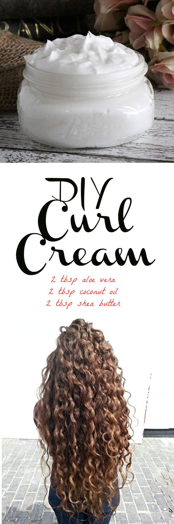 If you have curly or wavy hair, this DIY curl cream recipe will be right up your alley! Instead of saturating your hair with store bought creams and mouses that are loaded with drying alcohols