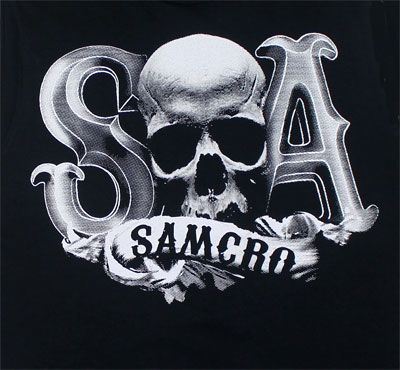 Sons Of Anarchy SAMCRO logo; would look awesome carved into a pumpkin!!!     Just sayin...