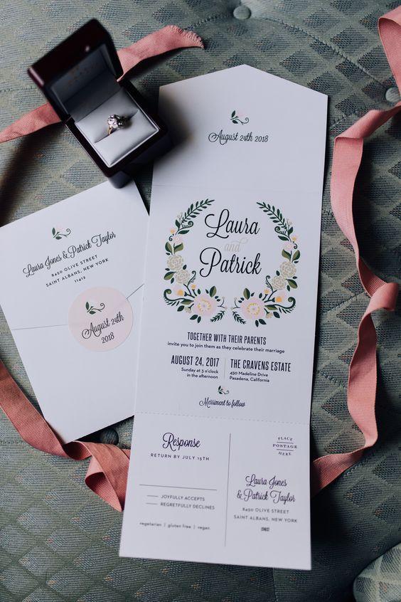 Wedding Details Stationary Invitations Kartu Pernikahan Kartu Undangan Pernikahan Contoh Undangan Pernikahan