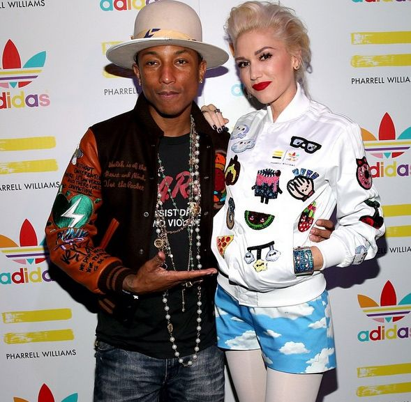 Gwen Stefani X Pharrell Williams celebrate his Adidas Originals collection. More pics on herpinkjersey.com