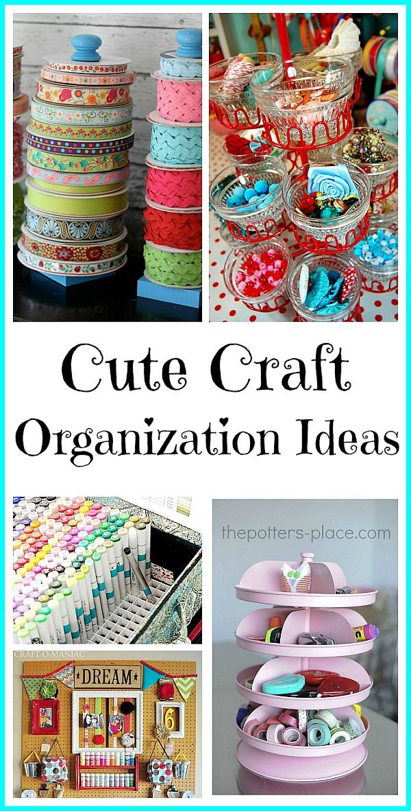 Cute Craft Organization Ideas to help you bring some order to your creative space!